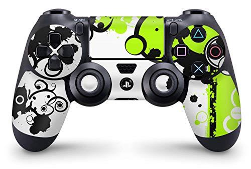 Skins4u Sony Playstation 4 Skin PS4 Controller Skins Design Sticker Aufkleber styling Set auch für Slim & Pro Simply Green