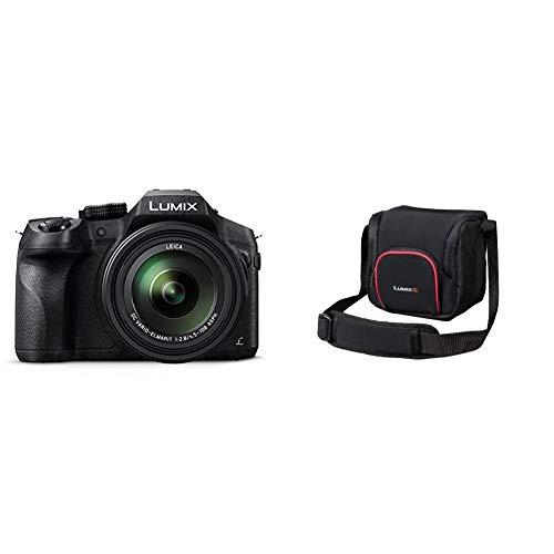 Panasonic LUMIX DMC-FZ300EGK Premium-Bridgekamera (12 Megapixel, 24x Opt. Zoom, Leica DC Weitwinkel-Objektiv) schwarz & LUMIX DMW-PGH68XEK Systemtasche (geeignet für Panasonic LUMIX G-Serie) schwarz