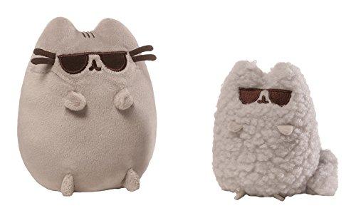 Peluches Pusheen by Gund, 2 peluches de gatitos con gafas, Enesco
