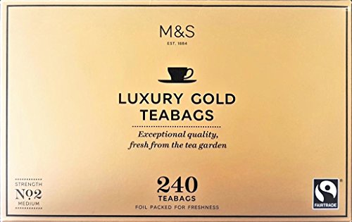UK Marks & Spencer Luxury Gold Tea 240 Tea Bag MARKS & SPENCER LUXURY GOLD TEA 240 TEABAGS 750 G