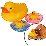 JC HUMMINGBIRD 6PC Yellow Rubber Ducks Family,...