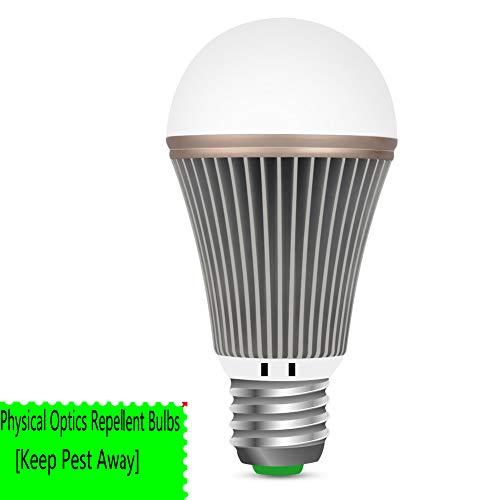 OSIDU Mosquitoes Repellent Light - LED Bug Light Bulb Outdoor Mosquitoes Flies Bugs Repellent Porch Light Bulb Indoor LED Warm Lamp Home Pest Control for Garden Patio Deck Lawn Farm E26 E27 110V 5W