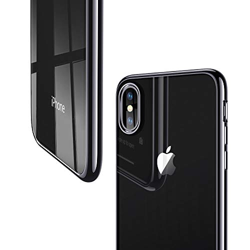 ESR iPhone X Case, iPhone 10 Case,Crystal Transparent Clear Flexible Soft Gel TPU Cover Shell Skin [Support Wireless Charging] [Slim Fit] for Apple 5.8″ iPhone X /iPhone 10 (2017 Release)(Space Gray)