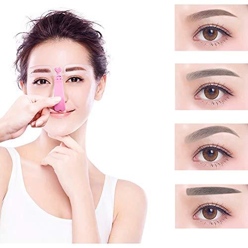 Xiton 4PCS / SET Kit Pochoir Sourcils Sourcils Pochoir RéUtilisable Dessin Des Sourcils Carte Guide Mise En Forme Des Sourcils ModèLe Bricolage Outils De Maquillage