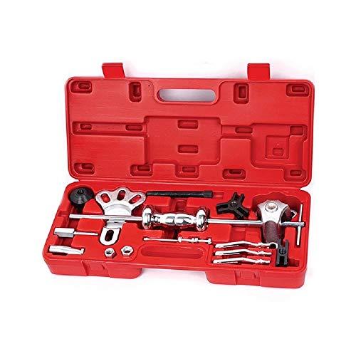 A ABIGAIL 9-Way Slide Hammer Puller Set, Front Wheel Hub Bearing Remover & Rear Wheel Axle Hub Dent Shaft Puller Tool Kit