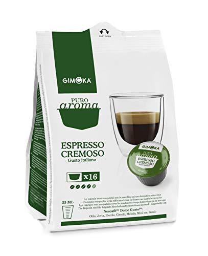 64 Capsule Gimoka Compatibili con Nescafé®* Dolce Gusto®* - 4 Confezioni da 16 Capsule - Gusto Cremoso