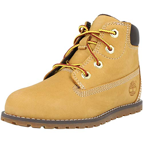 Timberland Unisex-Kinder Pokey Pine 6In Boot with Side Zip Kurzschaft Stiefel, Gelb (Wheat), 27 EU