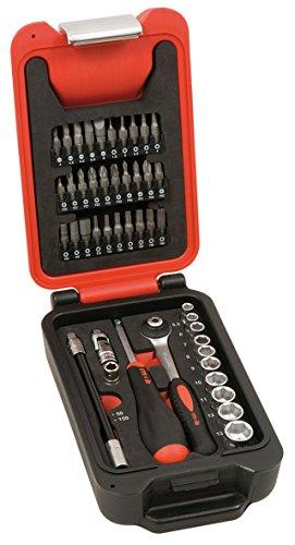 MOB Outillage 9416046001 Coffret de Douilles 1/4 '' 5,5 à 14 mm 46 pièces