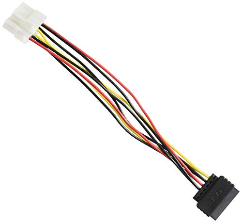 DeLock Kabel Power SATA 15pin 2X 4pin Molex Buchse 20cm