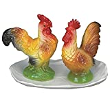 Green Pastures Wholesale Tray with Chicken Porcelain Salt and Pepper Shakers, 4-Inch Tall with 6-Inch