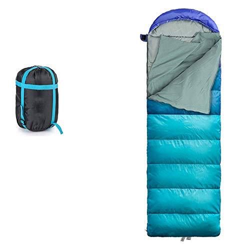 Liujie slaapzak voor volwassenen, ultralicht, voor camping in de open lucht, lente en zomer, draagbaar, gecomprimeerd, dikte van het katoen, kan worden gedraaid