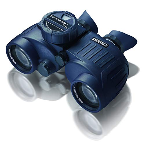 Steiner Commander 7x50 prismáticos marinos con brújula - la brújula iluminada más grande y precisa, hermética a la presión del agua de 10 m - la clase superior para las ambiciones más altas en el agua