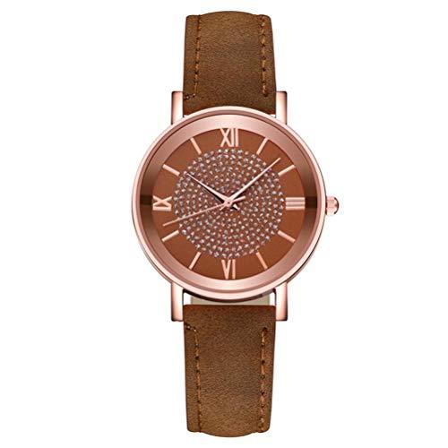 Sysow Reloj de pulsera analógico de cuarzo para mujer, minimalista, moderno, elegante, informal, con correa de malla de cuero