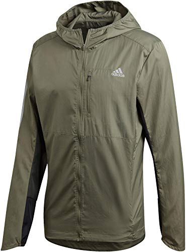 adidas Own The Run Jacke Chaqueta para Hombre, Legvern/Legear/Negro, Small