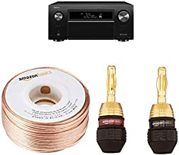 Denon AVR-X8500H 13.2-channel AV Receiver with 16-Gauge Speaker Wire - 100 Feet and Banana Plugs - 6 pairs