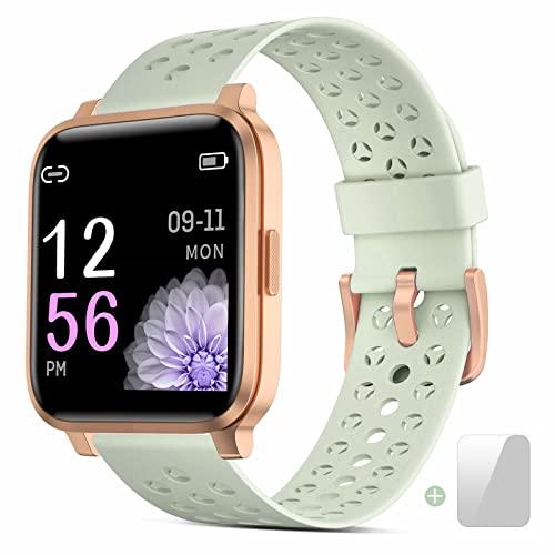 Oferta de Smartwatch, Reloj Inteligente Impermeable IP68 Hombre Mujer con Pulsómetro,Cronómetros,Calorías,Monitor de Sueño,Podómetro Pulsera Actividad Inteligentes Smart Watch Reloj Deportivo para Android iOS