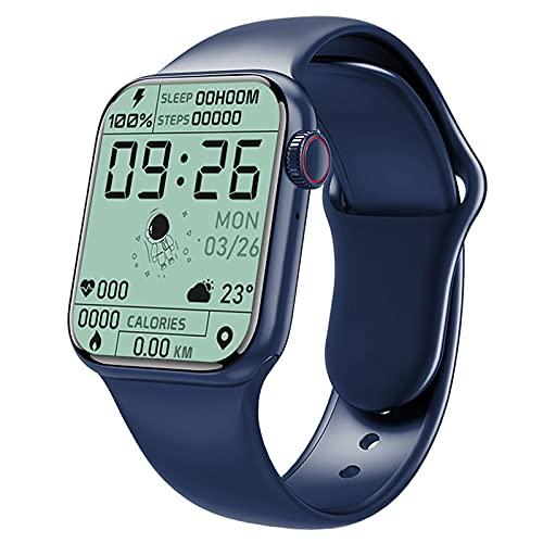 Yxpsmmysy [Pantalla de 1.7 pulgadas] S7 reloj inteligente conexión Bluetooth teléfono móvil universal hombres y mujeres estudiantes pulsera deportiva multifunción (Pro Max, azul)
