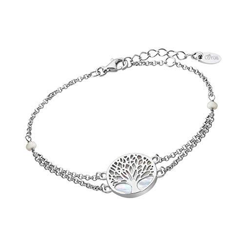 LOTUS Silver Armband Damen Lebensbaum 925 Sterling Silber LP1678-2/1 hochwertiger Marken-Schmuck ideal als Geschenkidee für Geburtstag Hochzeit D1JLP1678-2-1 Silber Armschmuck für die Frau