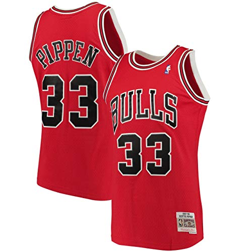 Outerstuff Youth Scottie Pippen Chicago Bulls Red Hardwood Classic Jersey (Youth Medium)