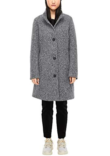 s.Oliver Damen Mantel aus Melange-Bouclé Grey Tweed 42