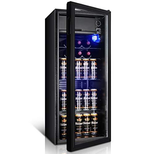 ZXJUAN koelkast enkele deur huishouden ijsbaar energiebesparende koelkast en vriezer koeler warmer koud mineraalwater dranken koffie groente en fruit wijnkast opslagkoelkast