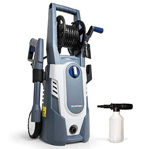 Blaupunkt Hidrolimpiadora a Presión PW3100c - 1600W Motor Eléctrico - 135bar - 7.1L/min - Manguera de 5m - Boquilla Vario - Pistola Detergente - Carrete para Manguera