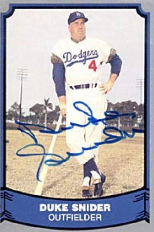 Duke Snider Autographed 1988 Pacific No. 55 Baseball Card  Autographed Baseball Cards