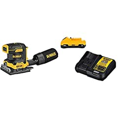 DCW200B cordless palm sander brushless motor provides runtime and efficiency to get the job done Variable speed control from 8, 000 - 14, 000 OPM to match the speed to the application Low profile height allows user to get close to work surface for pr...