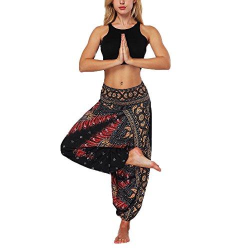 Fallschirm Harem Pants - Thai Cargo Boho Hippie Hose Baggy Yoga Ballon lose Zigeuner Aladdin Bloomer Hosen Kleidung für Frauen Männer