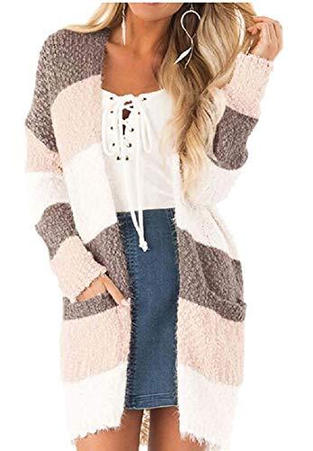 Biooarc Women's Long Sleeve Knit Sweater Open Front Cardigan Coat