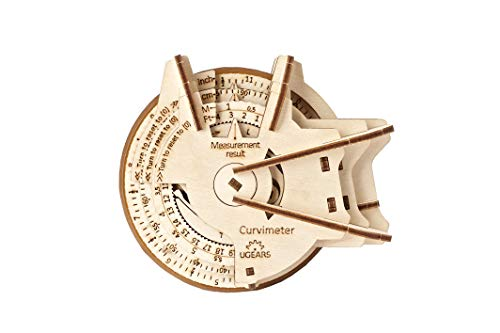 UGears STEM Model Kits - Creative Wooden Model Kits for Adults, Teens and Children - DIY Mechanical Science Kit for Self Assembly - Unique Educational and Engineering 3D Puzzles with App (Curvimeter)