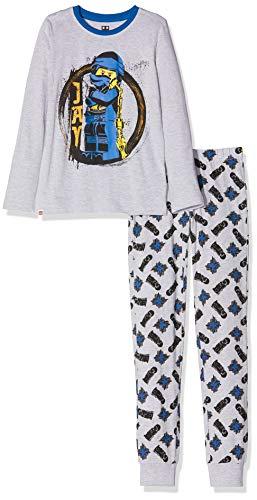 LEGO Wear Boys Ninjago Cm Pyjama Set, Grau (Grau Melange 921), 9 Jahre