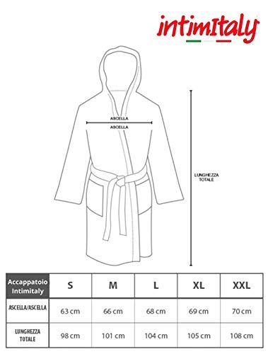 Intimitaly® Accappatoio Microfibra Uomo e Donna Unisex con Cappuccio Pratico Leggero con Comdo Sacchetto per Trasporarlo (Grigio, XL)
