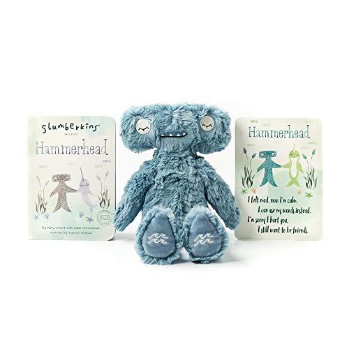 Slumberkins Hammerhead Kin & Book | Teaches Emotional Regulation | Social Emotional Tools for Ages 0