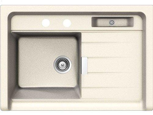 Schock Grando M-100 A Magnolia Granit-Spüle Beige Modul Aufsatzspüle Küchenspüle