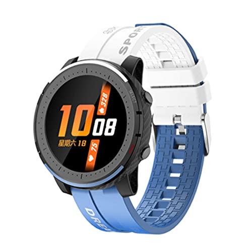 LV69 Fashion Smart Watch Bluetooth Llamada Smartwatch Ritmo cardíaco Rastreador de sueño Mensaje recordatorio Pulsera(A)