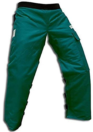 Forester Chainsaw Safety Chaps with Pocket, Apron Style (Regular 37', Forest Green)