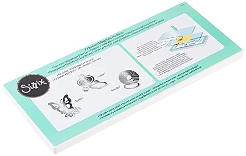Sizzix 656780 Piattaforma Magnetica Extended, Acciaio Inossidabile, Bianco, 36.8 x 15.6 x 1.6 cm