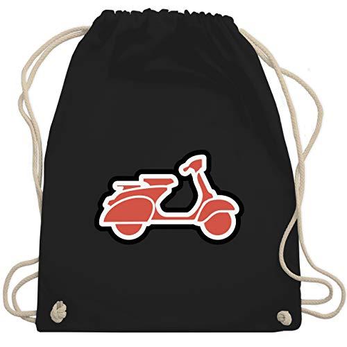 Shirtracer Motorräder - Roller Moped - Unisize - Schwarz - moped - WM110 - Turnbeutel und Stoffbeutel aus Baumwolle
