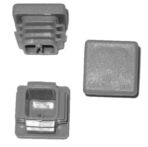 Lot de 10 bouchons à lamelles carrés - 25 x 25 mm - Gris