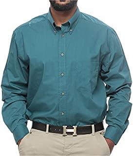 Harbor Bay Big and Tall Wrinkle Resistant Shirt for Men - Colonial Blue