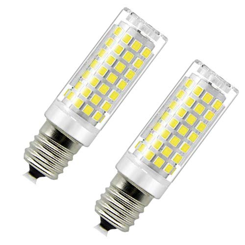 Microwave Oven Appliance 8W E17 LED Bulb (70W Halogen Bulb Equivalent) Daylight White 6000K Dimmable Ceramic Body Microwave Oven Light Bulb (Pack of 2)