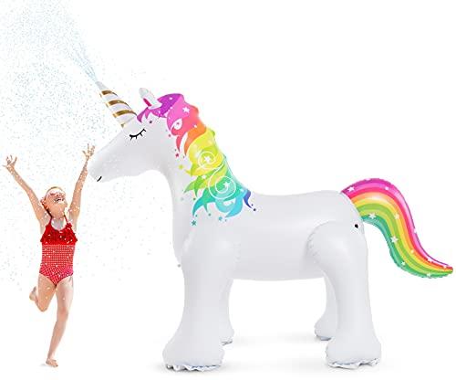 Jasonwell Unicorn Sprinkler Inflatable Unicorn Water Toys...