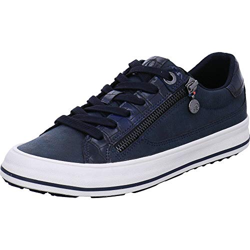 s.Oliver Damen Da-Schnürer Sneaker, Blau, 38 EU