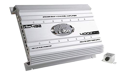 Lanzar VIBE432 Vibe - Amplificador para coche Mosfet (4000 W, 4...