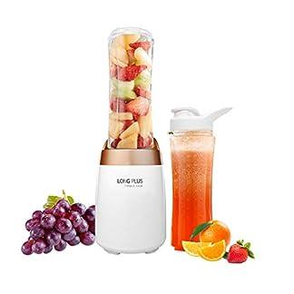 Mini-Blender-300-W-mit-zwei-BPA-freien-tragbaren-Flaschen-500-ml-Smoothies-Maker-weigold