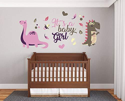 Wall Art - e-Graphic Design Inc It's A Baby Girl - Prime Series - Baby Girl - Sticker mural mural pour décoration intérieure de voiture, ordinateur portable (R124) facile à appliquer