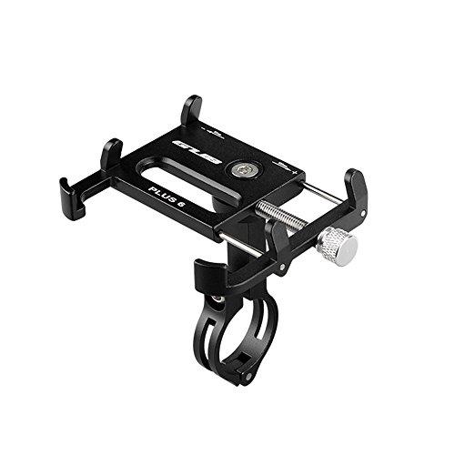 Lixada Bicicleta Teléfono Titular 360 Grado Giratorio Longitud Ajustable de Aluminio Manillar de Bicicleta de Montaje (Negro)