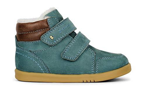 Bobux I-Walk Timber Arctic Boot with Merino Fleece – Bottes en cuir de serrure, doublure en cuir, semelle souple et résistante - - Ardoise, 23 EU EU