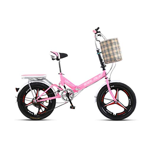 LEL Foldable Mountain Bike 20-inch 7 Speed Shock-Absorbing Student Boy Girl Off-Road Outdoors Sport Damping Bicycle